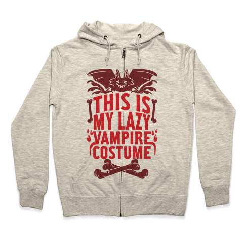 This Is My Lazy Vampire Costume Zip Hoodie