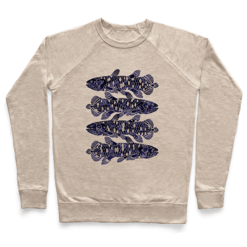 Geometric Jeweled Coelacanth Fish Pullover
