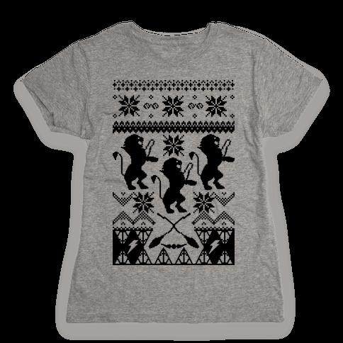 Hogwarts Ugly Christmas Sweater: Gryffindor Womens T-Shirt
