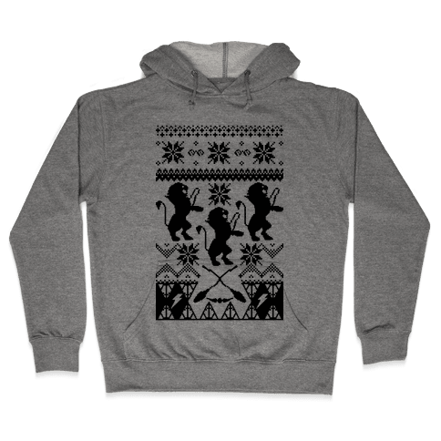 Hogwarts Ugly Christmas Sweater: Gryffindor Hooded Sweatshirt