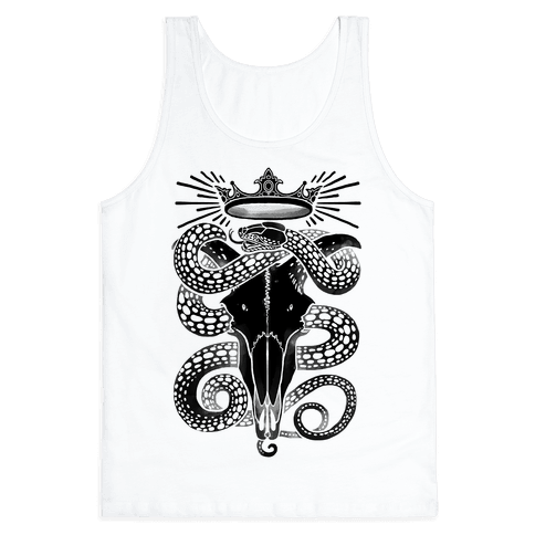 Crowned Serpent Goat Skull Tank Top