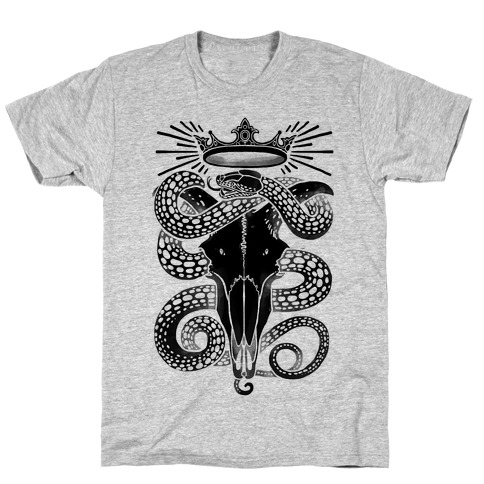 Crowned Serpent Goat Skull T-Shirt