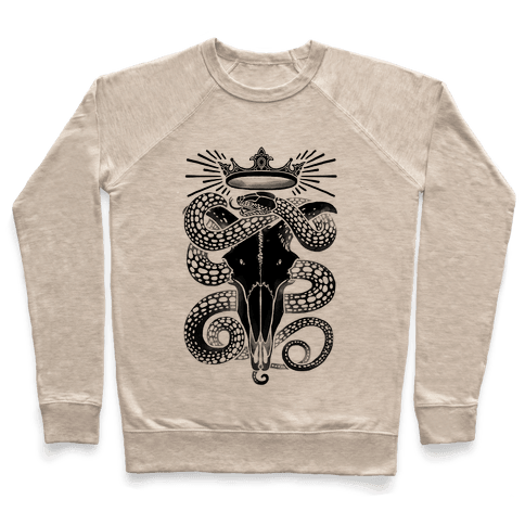 Crowned Serpent Goat Skull Pullover