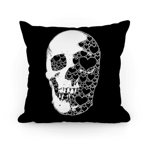 Heart Skull Pillow