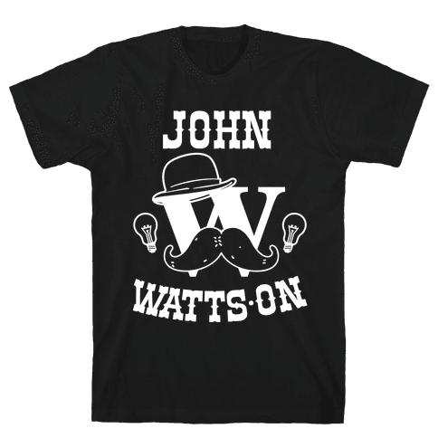 Sherlock Ohms Pair (John Watts On) Mens T-Shirt