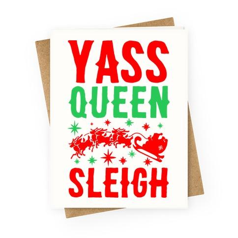 Yass Queen Sleigh Greeting Card