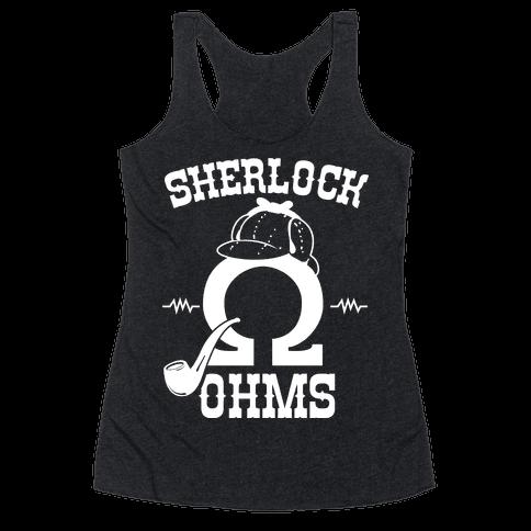 Sherlock Ohms Pair (Sherlock Ohms) Racerback Tank Top