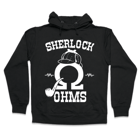 Sherlock Ohms Pair (Sherlock Ohms) Hooded Sweatshirt