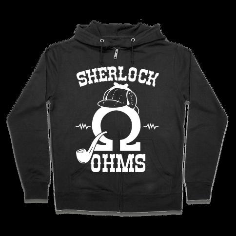 Sherlock Ohms Pair (Sherlock Ohms) Zip Hoodie