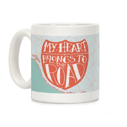 My Heart Belongs to the Road Coffee Mug