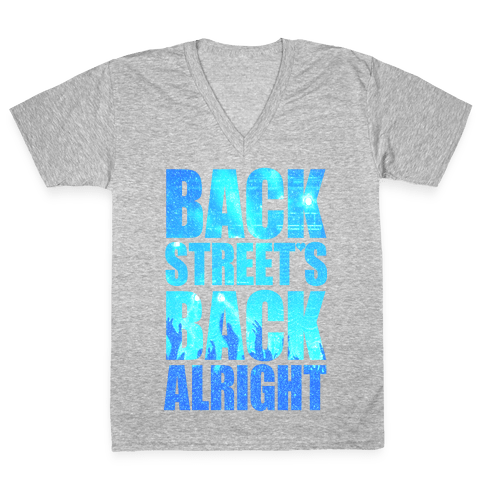Backstreet's Back Alright! V-Neck Tee Shirt