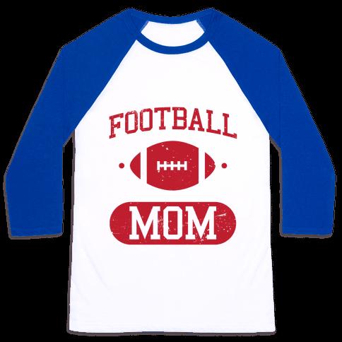 Football Mom Baseball Tee
