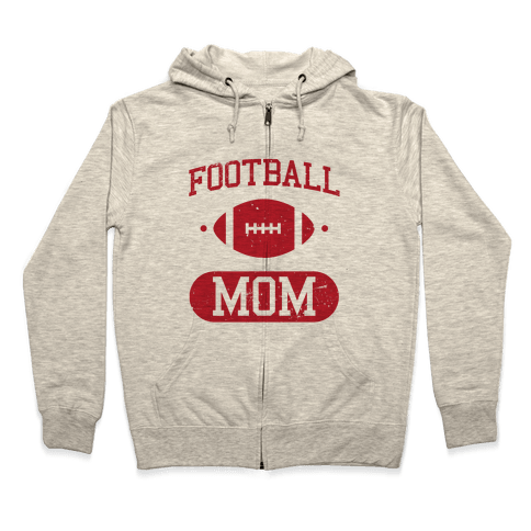 Football Mom Zip Hoodie