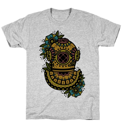 Floral Diving Helmet T-Shirt