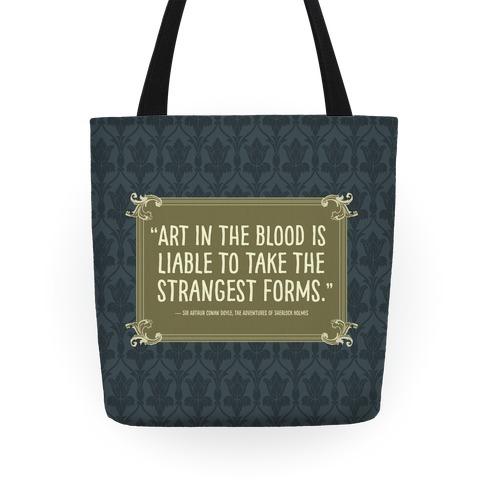 Sherlock Holmes Book Quote Tote