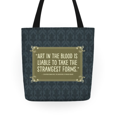 Sherlock Holmes Book Quote Tote
