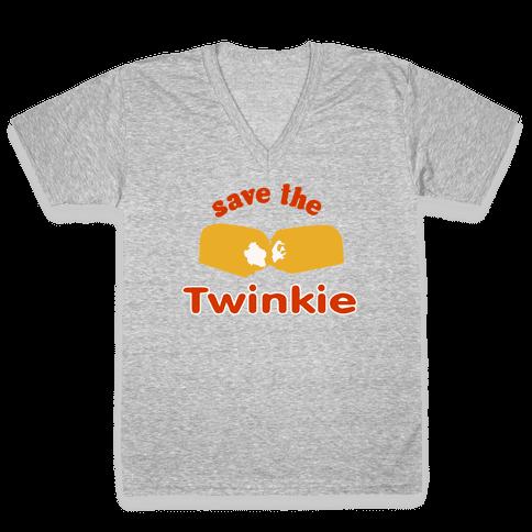 Save the Twinkie! V-Neck Tee Shirt