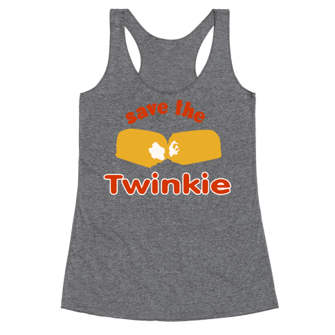 Save the Twinkie! Racerback Tank Top