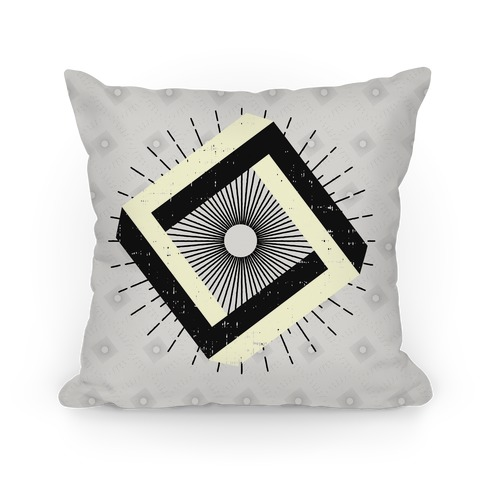 3D Geometric Square Pillow