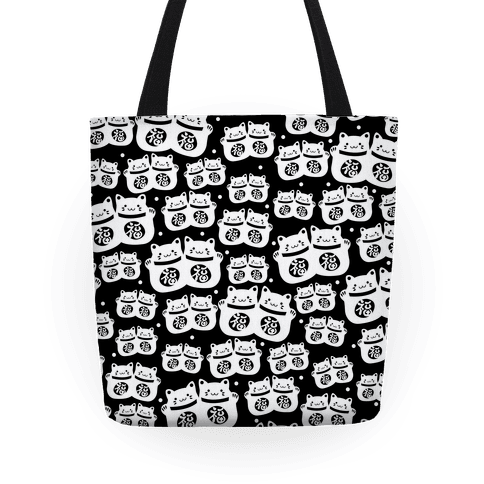 Lucky Cat Pattern Tote