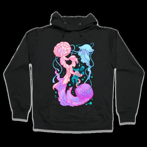 Deep Sea Diver & Jellyfish Hooded Sweatshirt