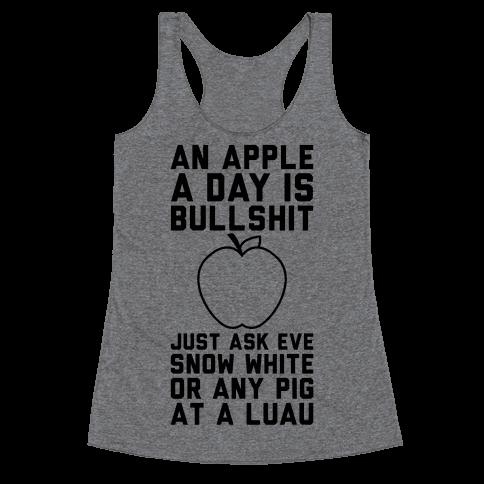 An Apple A Day Racerback Tank Top