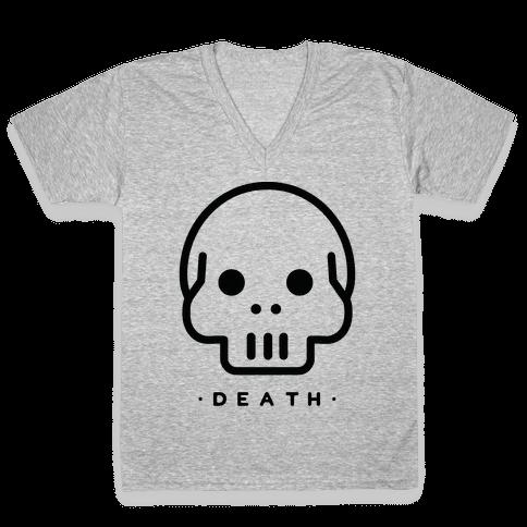 Death Tarot V-Neck Tee Shirt