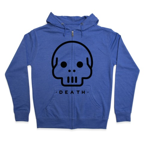 Death Tarot Zip Hoodie