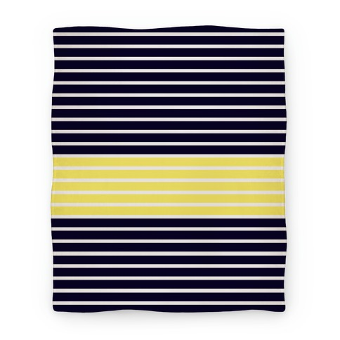 Navy and Yellow Stripe Blanket Blanket
