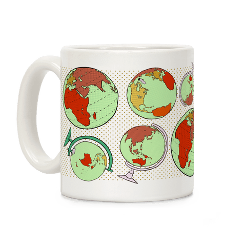 Wanderlust World Globe Pattern Coffee Mug