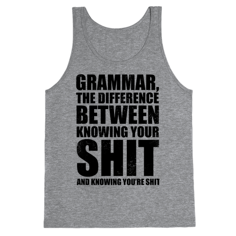 Know Your Grammar Tank Top