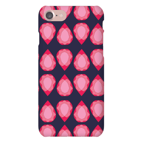 Pink Teardrop Gem Pattern Phone Case