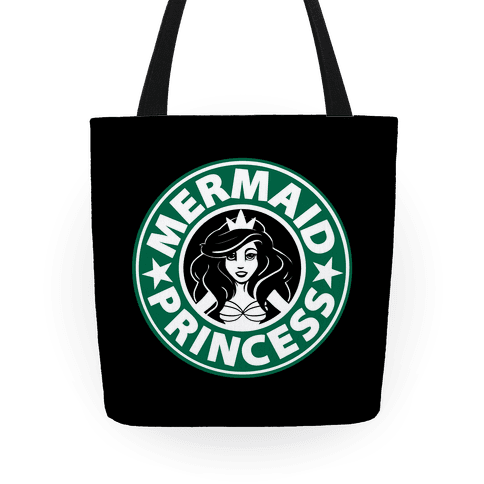 Mermaid Princess Coffee Tote