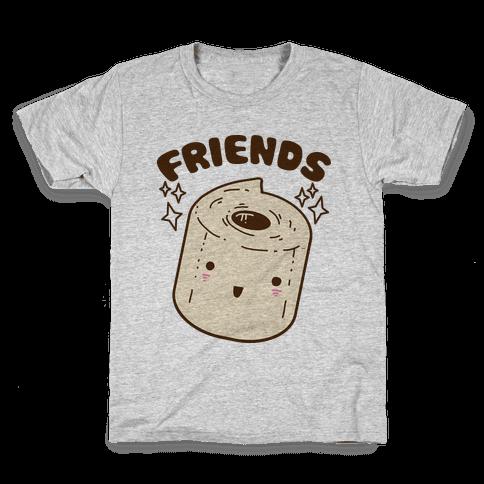 Best Friends TP & Poo (Toilet Paper Half) Kids T-Shirt