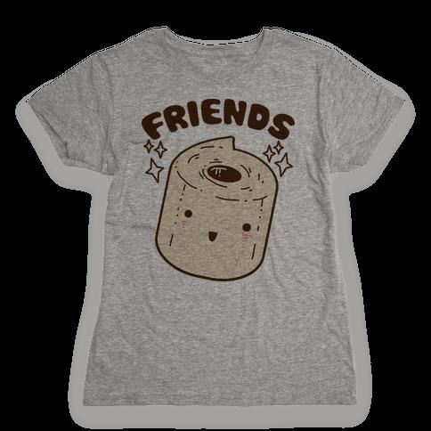 Best Friends TP & Poo (Toilet Paper Half) Womens T-Shirt