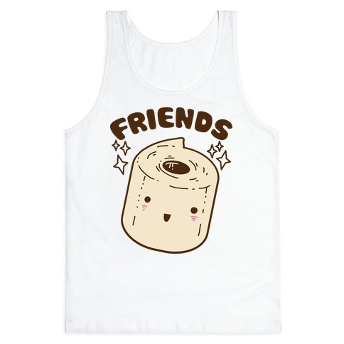 Best Friends TP & Poo (Toilet Paper Half) Tank Top