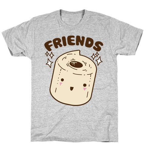 Best Friends TP & Poo (Toilet Paper Half) T-Shirt