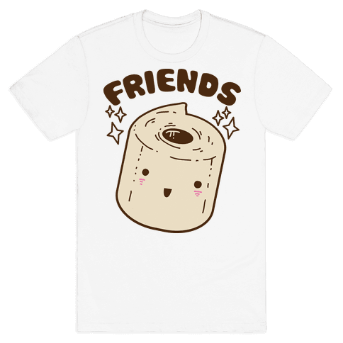 Best Friends TP & Poo (Toilet Paper Half) Mens T-Shirt