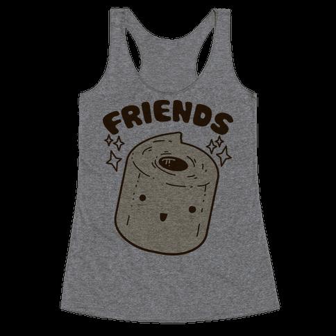 Best Friends TP & Poo (Toilet Paper Half) Racerback Tank Top