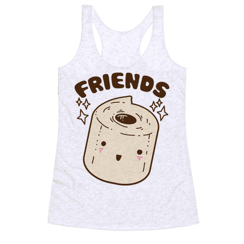Best Friends TP & Poo (Toilet Paper Half) Racerback Tank Top