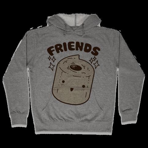 Best Friends TP & Poo (Toilet Paper Half) Hooded Sweatshirt
