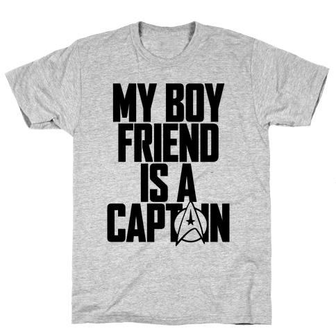 My Boyfriend Is A Captain Mens T-Shirt