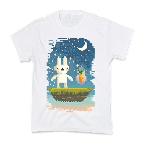 Pixel Bunny and Pixel Carrot Kids T-Shirt