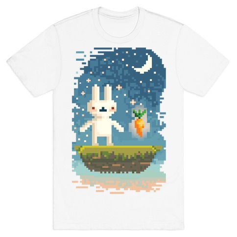 Pixel Bunny and Pixel Carrot T-Shirt