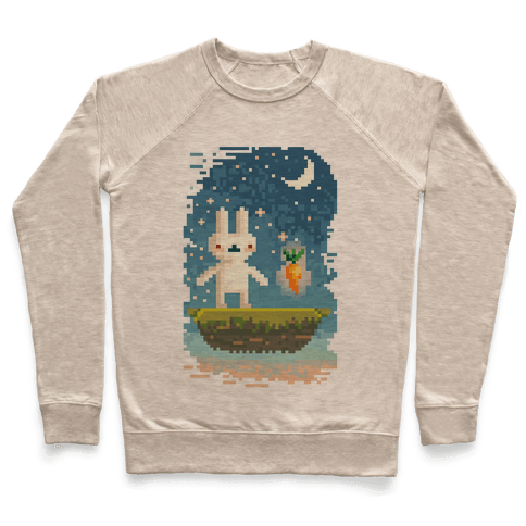 Pixel Bunny and Pixel Carrot Pullover