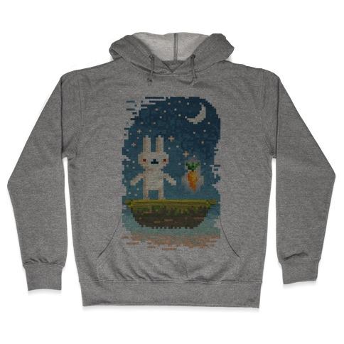 Pixel Bunny and Pixel Carrot Hooded Sweatshirt