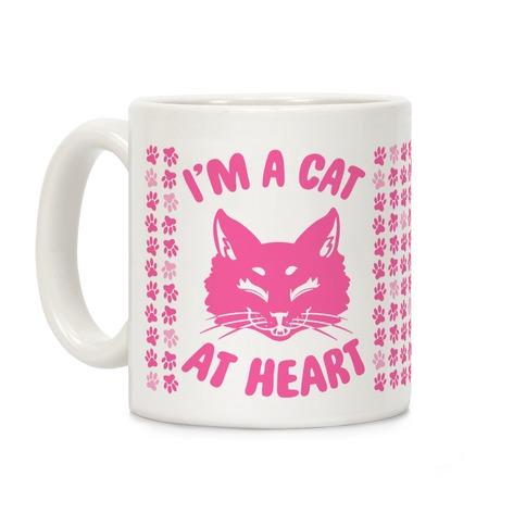 I'm a Cat at Heart Coffee Mug