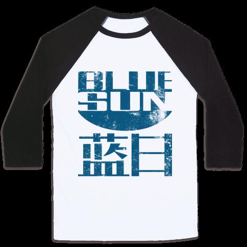 Blue Sun Baseball Tee