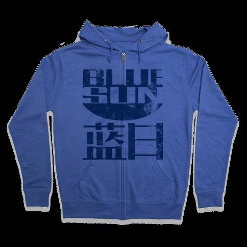 Blue Sun Zip Hoodie