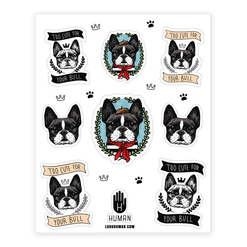 French Bulldog Sticker and Decal Sheet